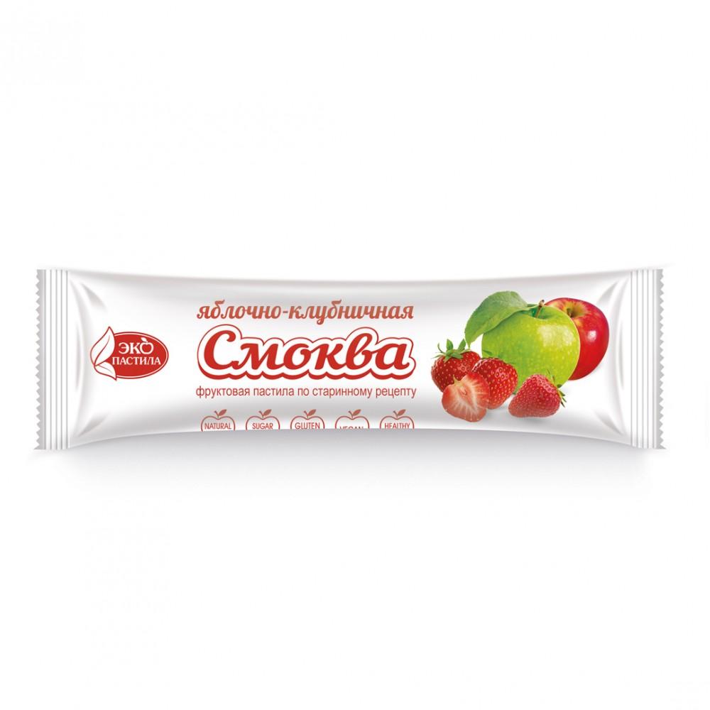 Смоква фруктовая пастила Яблочно-клубничная 30г