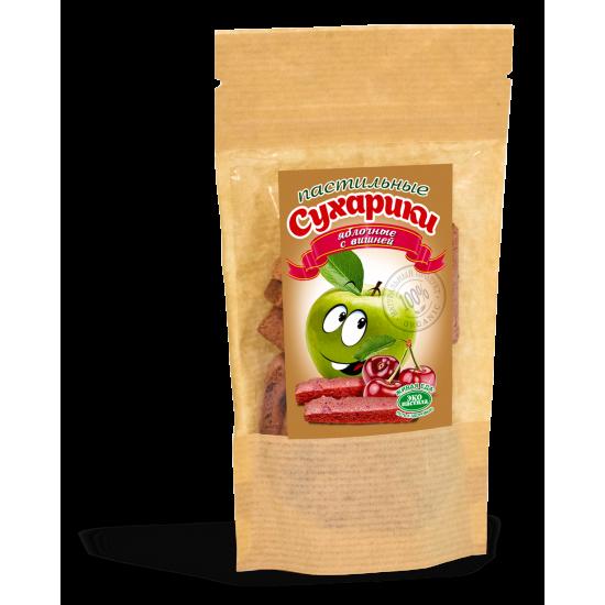 Пастильные сухарики яблочные с вишней 60гр.