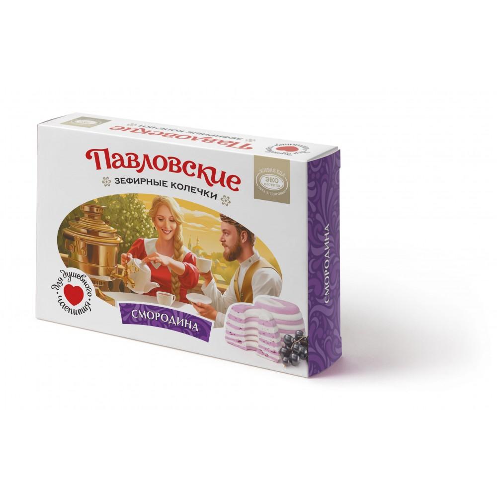 Зефир «Павловские зефирные колечки со вкусом смородины» 140 г