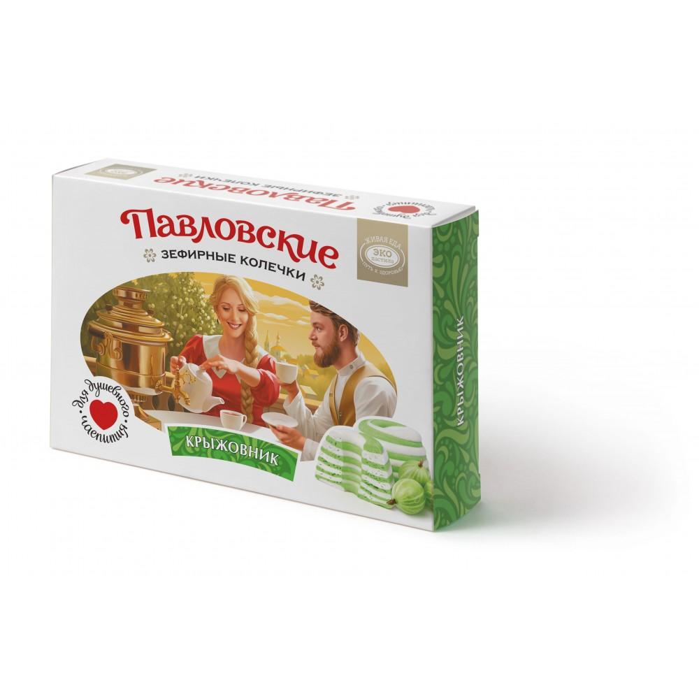Зефир «Павловские зефирные колечки со вкусом крыжовника» 140 г
