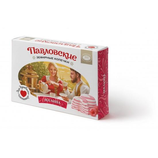 Зефир «Павловские зефирные колечки со вкусом малины» 140 г